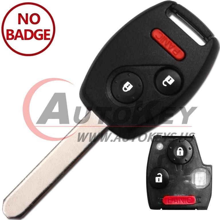 (434Mhz) 2+1btn Remote Key For Honda