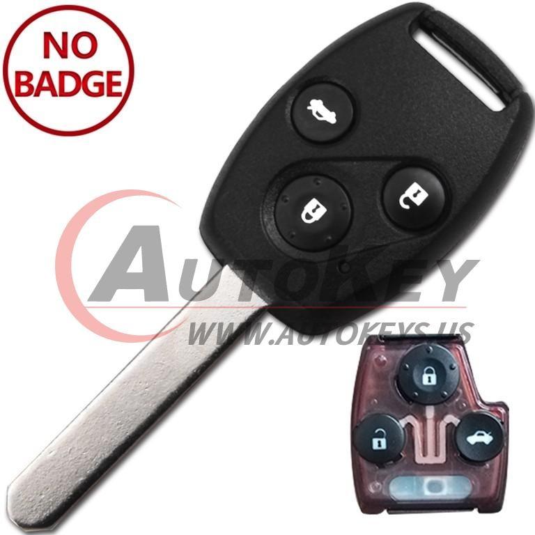(433Mhz) 3btn Remote Key For Honda