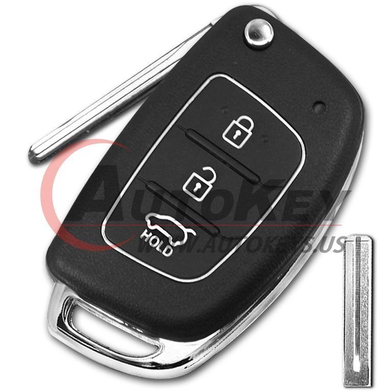 (433Mhz) 3btn Flip Key For Hyundai Santa Fe/IX45