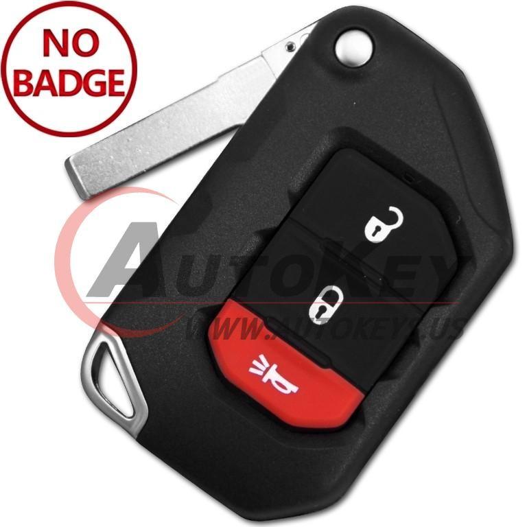 (433Mhz) OHT1130261 Keyless Flip Key For Jeep Wrangler