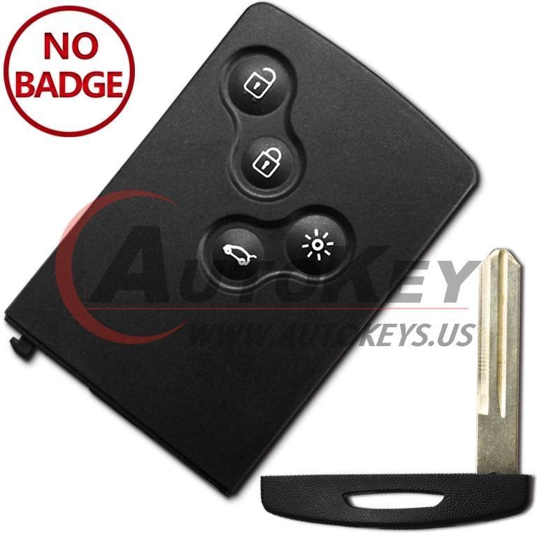 (433Mhz) Keyless Smart Key For Renault Koleos (NSN14) Samsung QM5