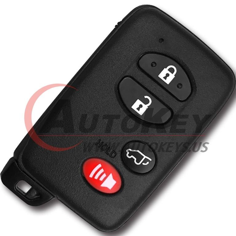 (433Mhz) 3+1btn Smart Key For Toyota (TOY48)