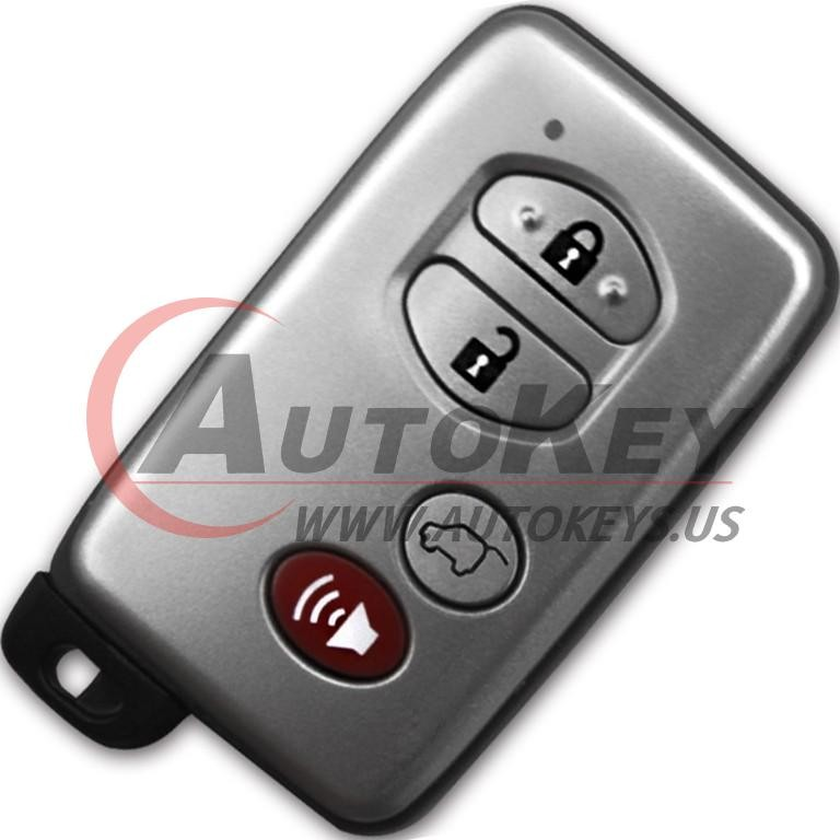 (F433-433Mhz) 3+1btn Smart Key For Toyota (TOY48)