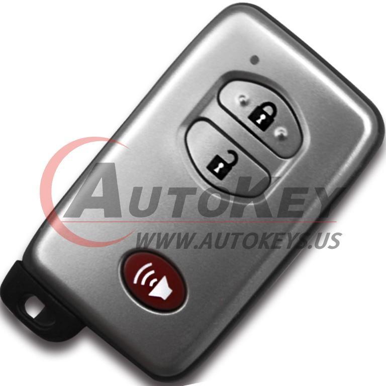 (F433-433Mhz) 2+1btn Smart Key For Toyota (TOY48)