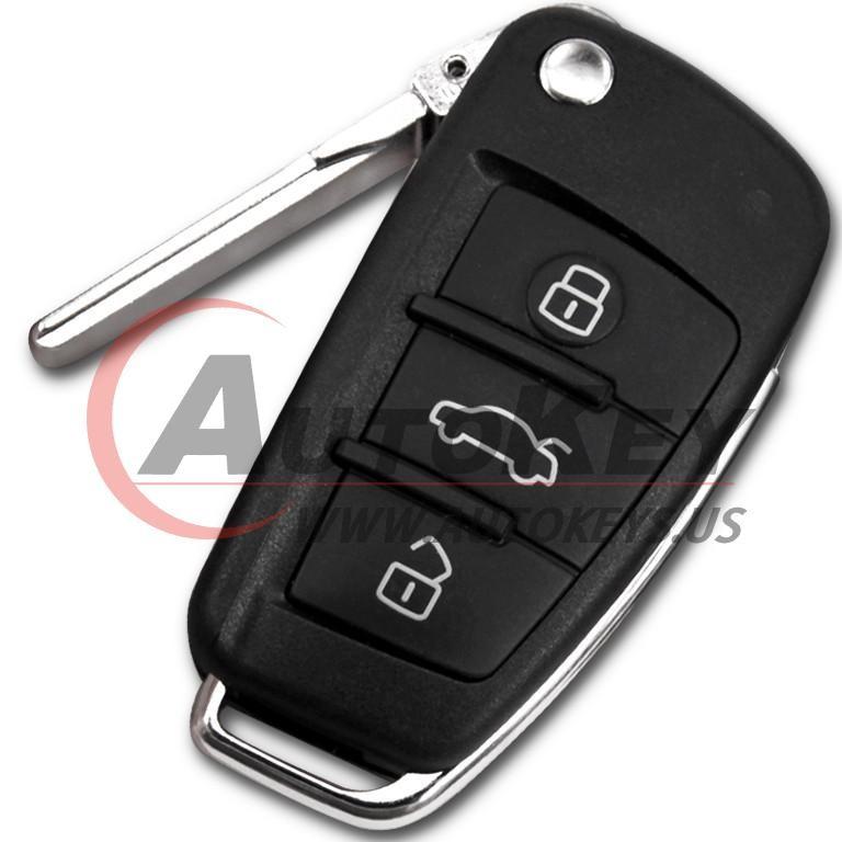 (434Mhz) 8X0 837 220 Flip Remote Key For Audi A1 Q3