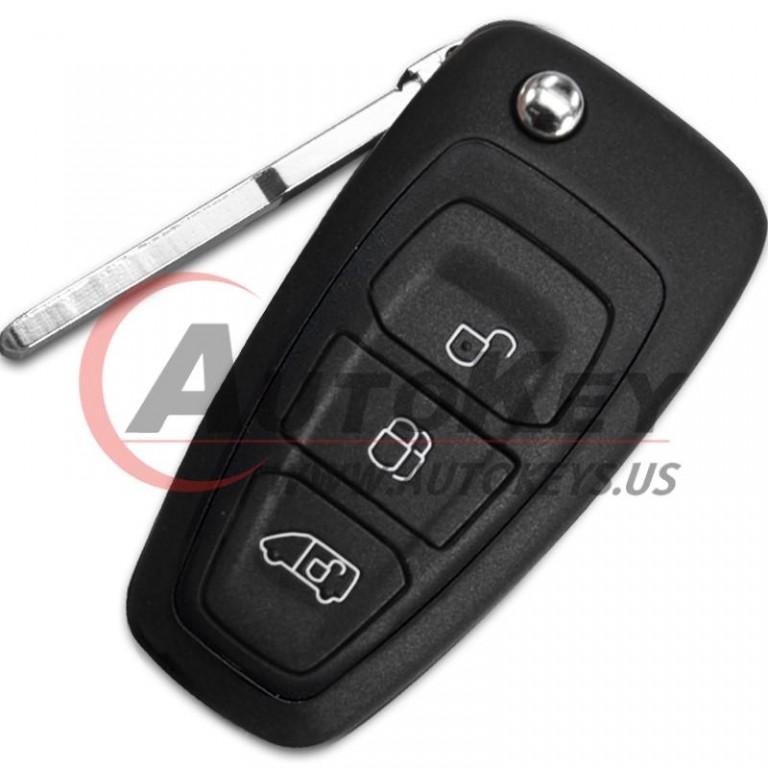 (433Mhz) GK2T-15K601-AA Flip Remote Key For 2016-2020  Ford Transit