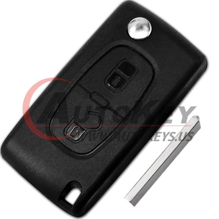 (433Mhz) Flip Remote Key For 2001-2005 Peugeot 307
