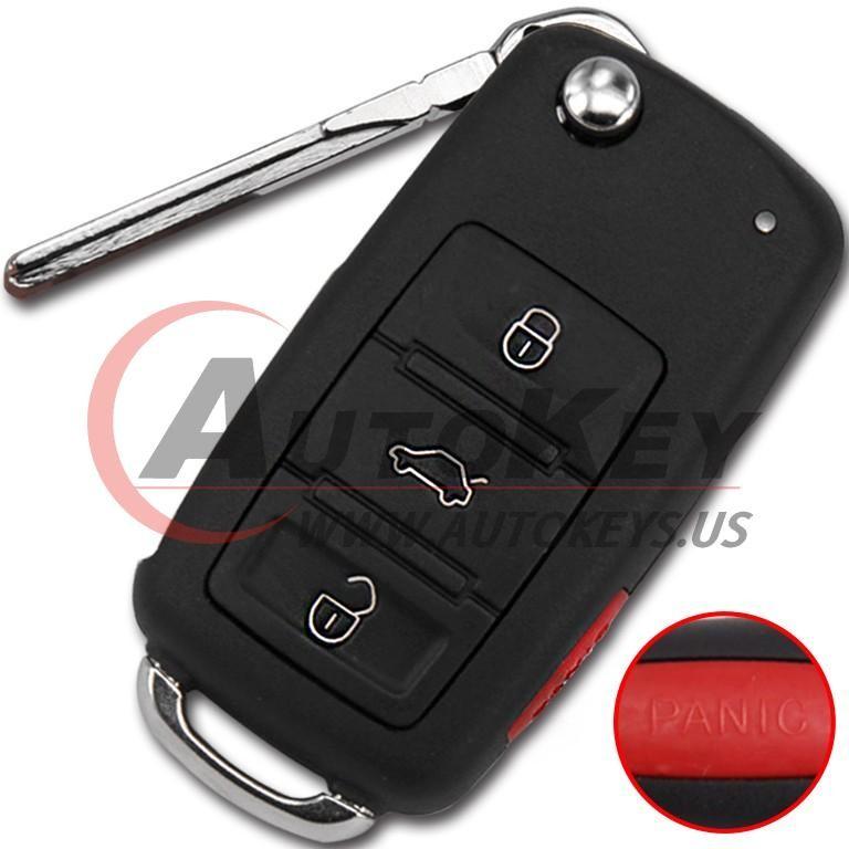 (433Mhz) 4E0837220M/220D Keyless Flip Remote Key For Audi A8