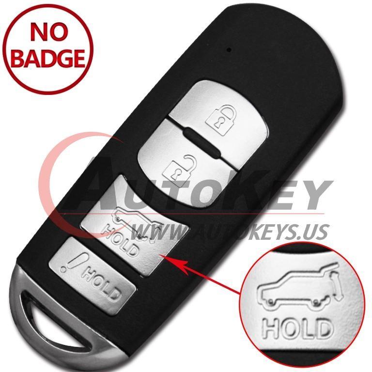 (315Mhz) WAZX1T763SKE11A04 Smart Key For Mazda CX-9 CX-7 MX-5 MIATA
