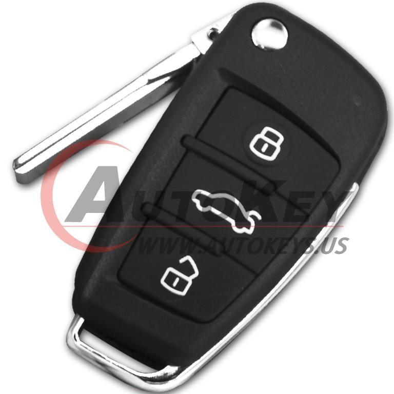 (315Mhz) 8P0837220E/G Flip Remote Key For Audi A3 TT S3