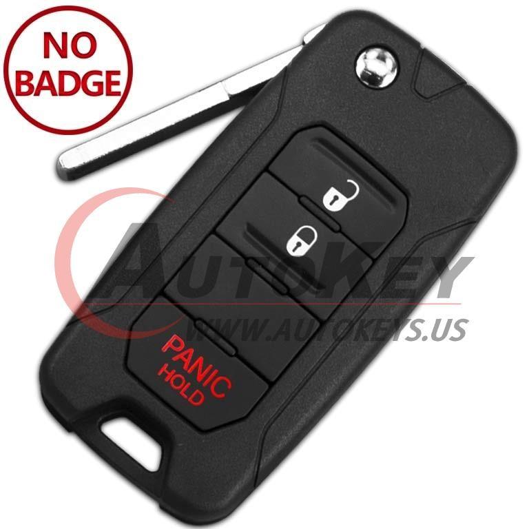 (433Mhz) 2ADFTFI5AM433TX Flip Key For Jeep Renegade