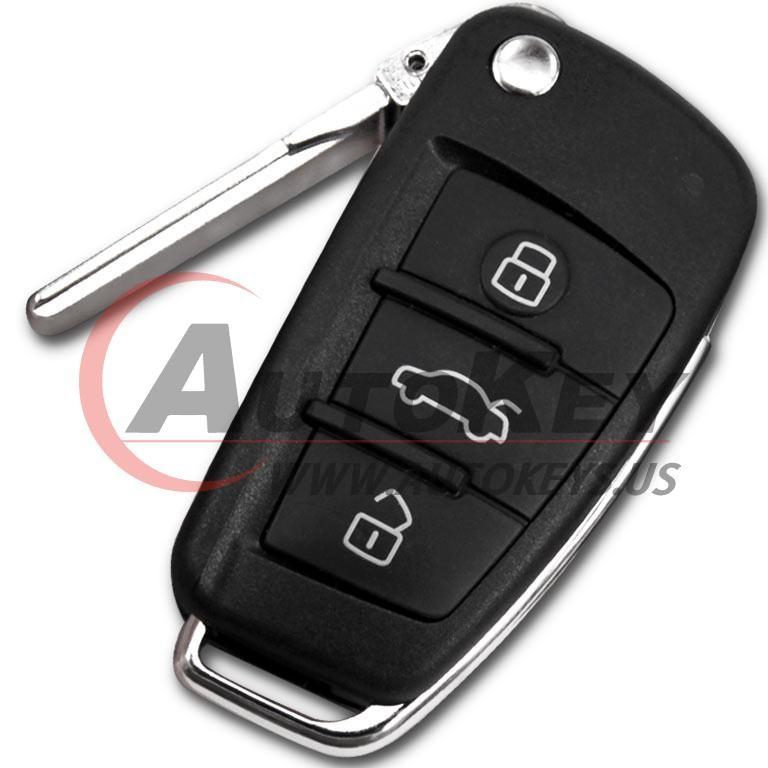 (433Mhz) 8E0837220Q/K/D Flip Remote Key For Audi A4 S4 RS4